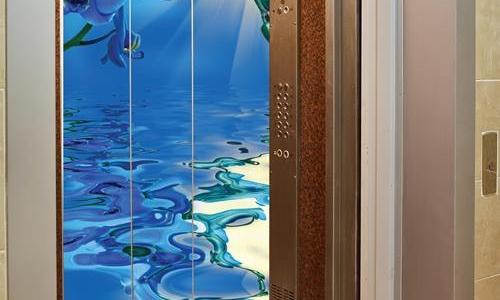 Cabin thang máy sử dụng đá 3D theo phong thuỷ